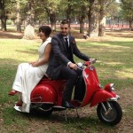 Vespa Bikes Hire Melbourne - wedding