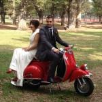 Vespa Bikes Hire Melbourne - wedding