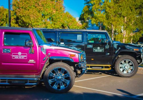 Pink and Black Hummer